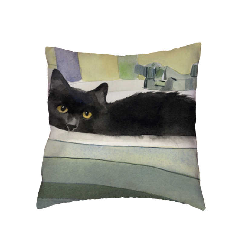 Predadores Preguiçoso Gato Animais de Estimação Almofadas Decorativas Capa de Almofada Ficar Juntos Chapéu Vermelho Quadrado Caso Cadeira Sofá Do Escritório de Rock Ao Ar Livre