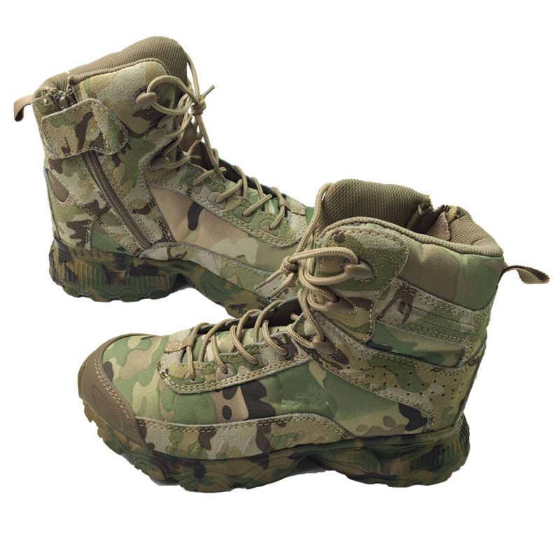 CP Camo 8'' Men's Special Forces Jungle Camofluage Boot Military Boots Tactical Combat Boots W/ Zipper on Side for Outdoor forces acting on restorations