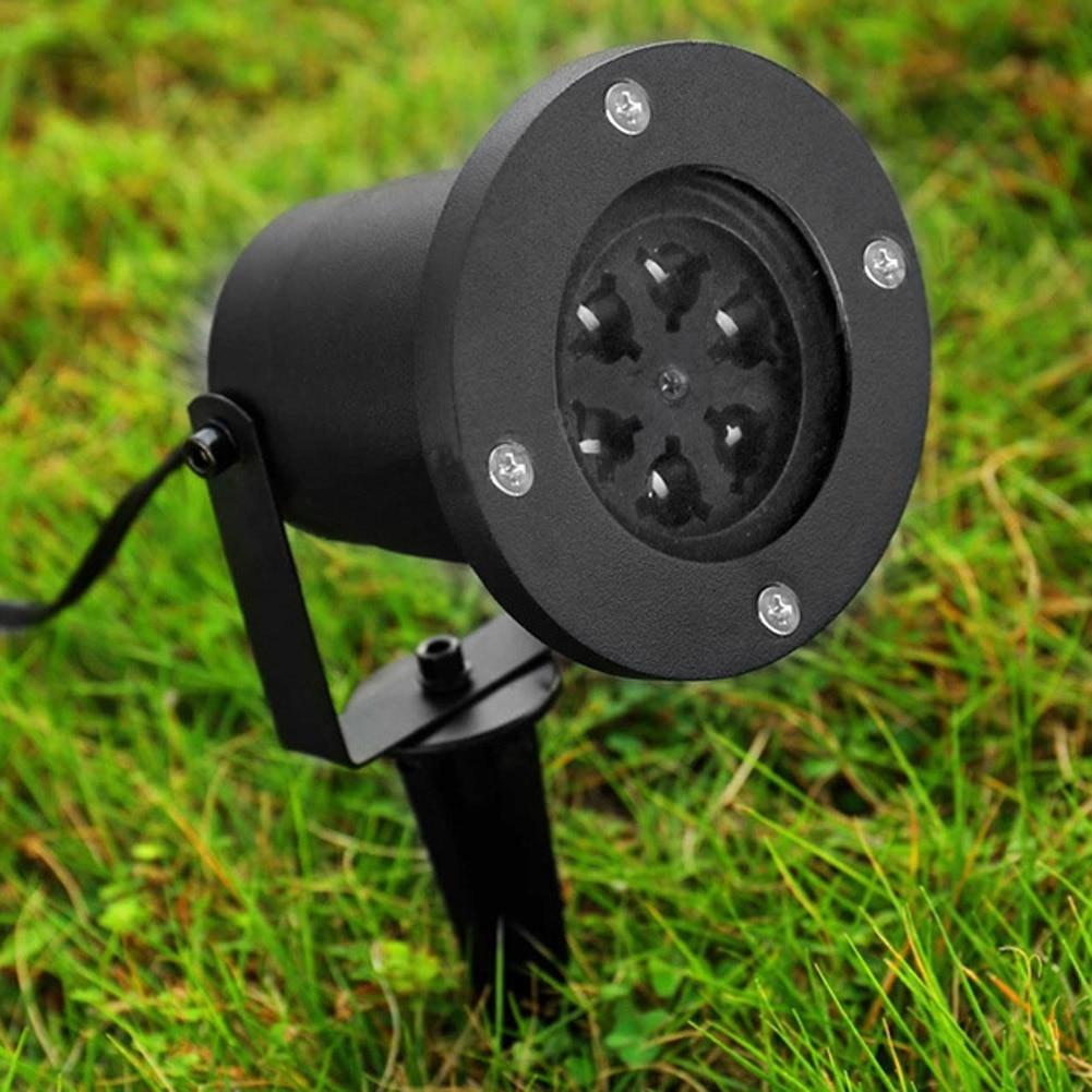 Waterproof Snowflake Laser LED Outdoor Landscape Light Garden Projector Christmas Festival Light #LO