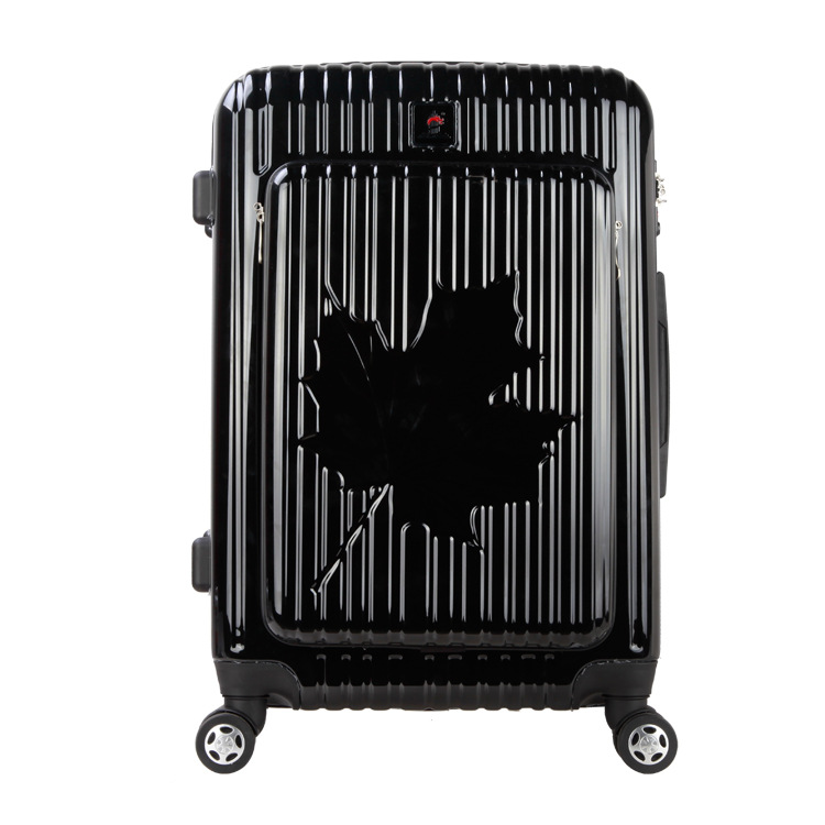 2024 inch Canada Maple leaf pattern pc and abs cabin luggage hardside spinner trolley bag rolling suitcase computer luggage