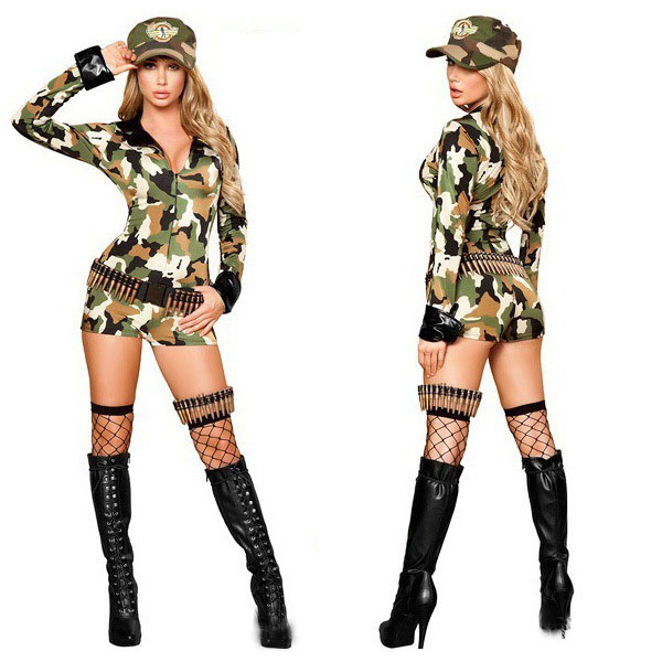 5eb0bb90442 Camouflage rompers womens sexy military soldier long sleeves fashion jpg  600x600 Camo catsuit