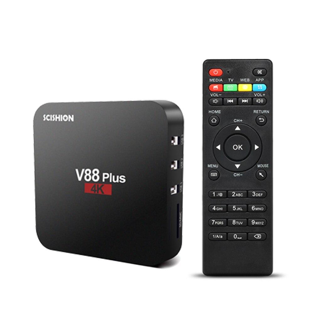 SCISHION V88 Plus. Android TV Box 8.1 RK3229 Quad Core 4 K VP9 H.265 HDR10 2 GB/16 GB miracast DLNA WiFi LAN HD Smart Media Player-in Set box TV da Elettronica di consumo su AliExpress - 11.11_Doppio 11Giorno dei single 1