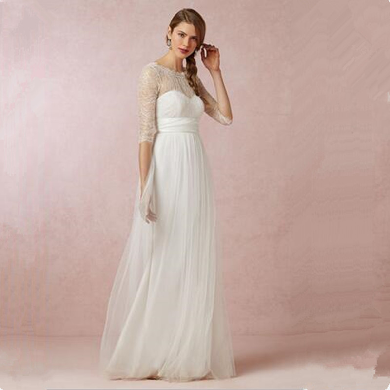 Online buy wholesale informal wedding dress sleeves from for Cheap casual wedding dress