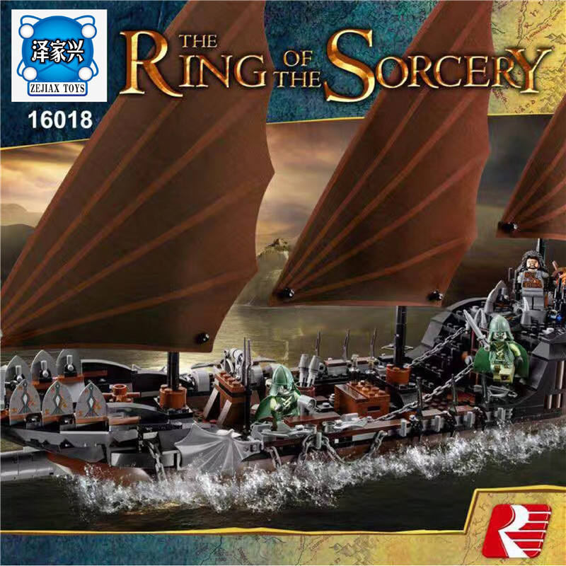 New Genuine The Lord of Rings Series The Ghost Pirate Ship Set Lepines  Building Block Brick Figures Toys 79008 lepin 16018 756pcs genuine the lord of rings series the ghost pirate ship set building block brick toys compatible legoed 79008