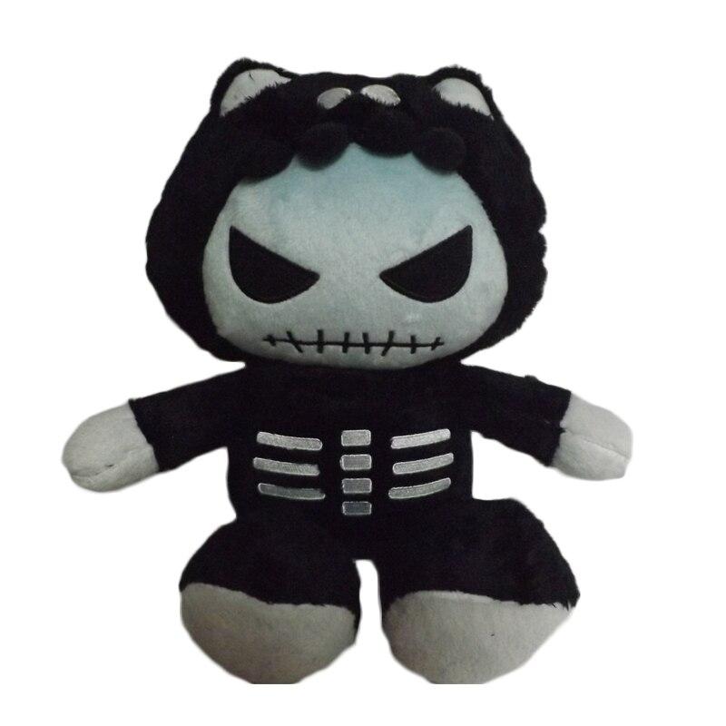 Halloween svart katt plysch leksak 25cm mjuk julklapp monster tecknad katt leksak stor svart öga barn fylld djur leksak för pojke