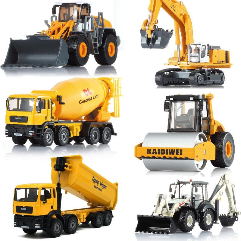 Kaidiwei Excavator Truck Bulldozer Roller Mixer Alloy Construction Vehicle Model Gift Box 626030