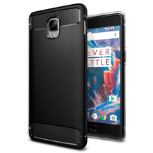 100% Original SGP Rugged Armor Carbon Fiber Texutred Protective Flexible TPU Case for OnePlus 3 Three