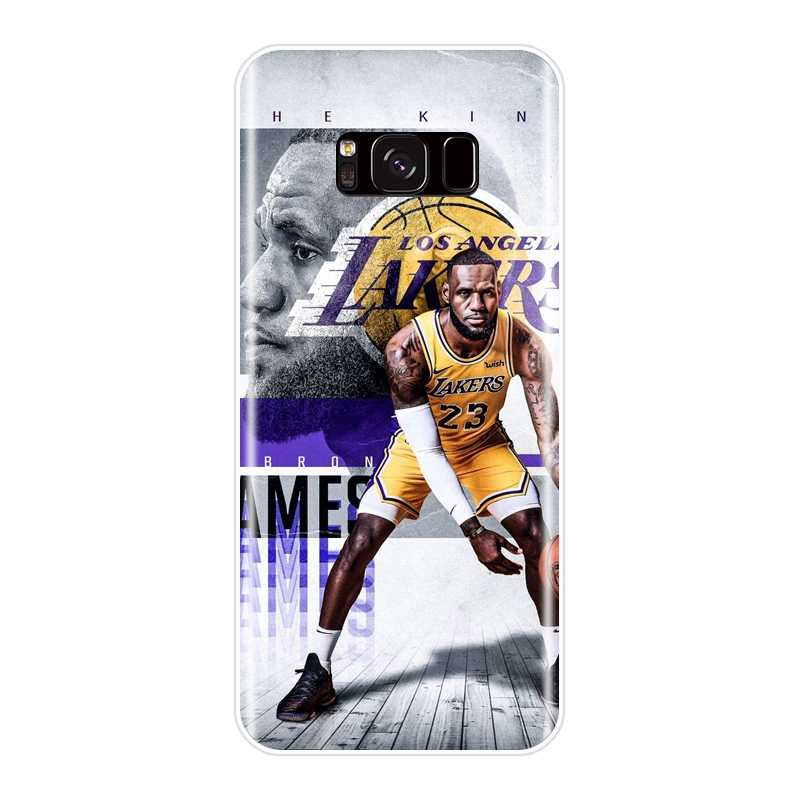 3daaa3d95eee ... Basketball Lebron James Phone Case For Samsung Galaxy S8 S9 Plus S5 S6  S7 Edge Silicone ...