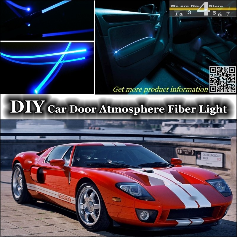 For Ford Gt Interior Ambient Light Tuning Atmosphere Fiber Optic Band Lights Inside Door Panel Illumination Not El Light Refit In Decorative Lamp From
