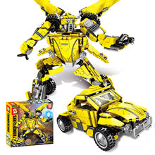 купить Creator Deformation Robot Bumblebee Movie Building Blocks Sets Bricks Educational Toys for Children gift по цене 1666.71 рублей