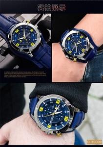 Image 4 - MEGIR メンズ腕時計トップブランドの高級ゴールドクロノグラフ腕時計日付ミリタリーバンド男性クロックレロジオの Masculino 2099
