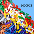14 Тип Кирпича 1000 Шт. Набор Строительный Кирпич Город DIY творческие Игрушки Для Детей Образования Основная Кирпича Совместимость С Lego классический