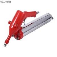 1Pcs Powerful Air Grease Gun One Hand Pistol Grip Air Pneumatic Compressor Pump Grease Gun W/ Extension Set Home Tool