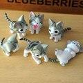 6 Pçs/set Queijo Gato Brinquedos Animais Japonês Anime Action Figure Coleção