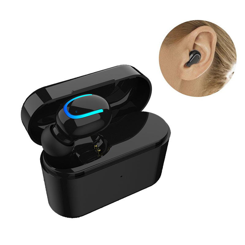 Bluetooth Earphone Invisible Earbuds With Mic Motion earpiece Wireless Charging Box stereo Headsets For IPhone Samsung