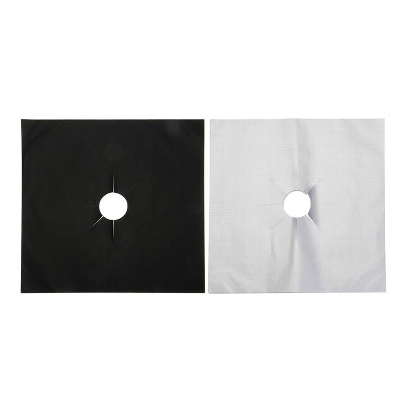 4pcs/set Gas Stove Cooker Protectors Cover/liner Clean Mat Pad Kitchen 1