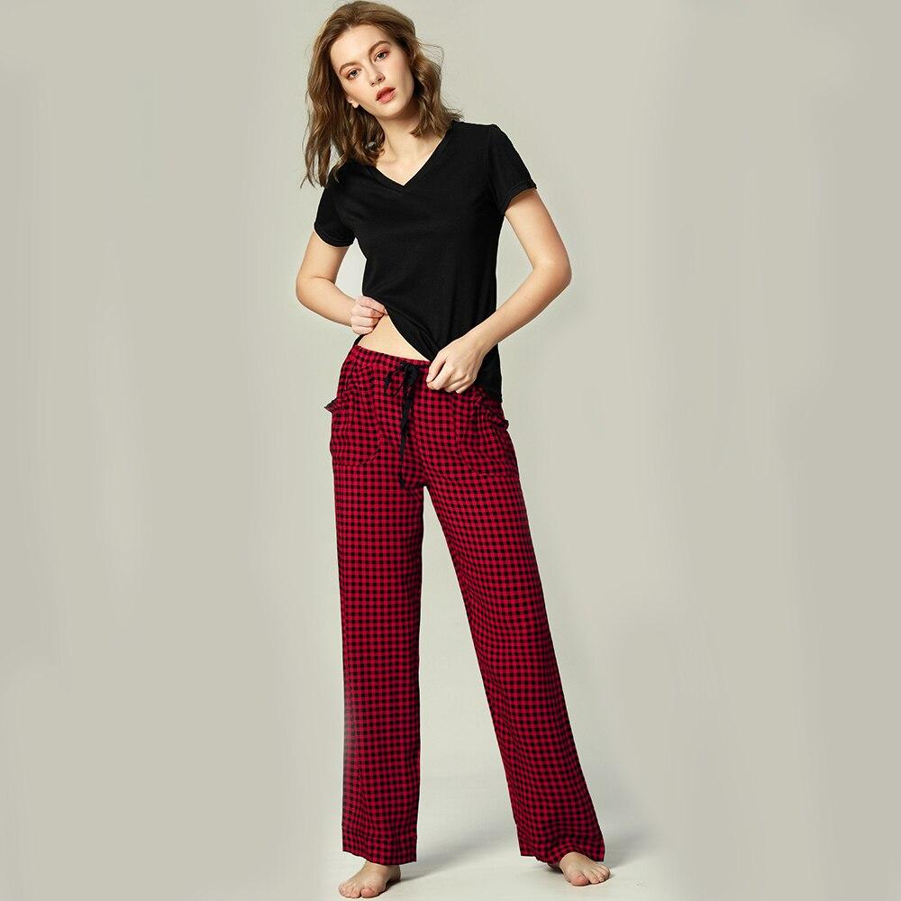 d2dac421a7d4 2019 conjunto de Pijamas 2 piezas conjuntos de manga corta ropa de dormir  pijamas para mujeres ...