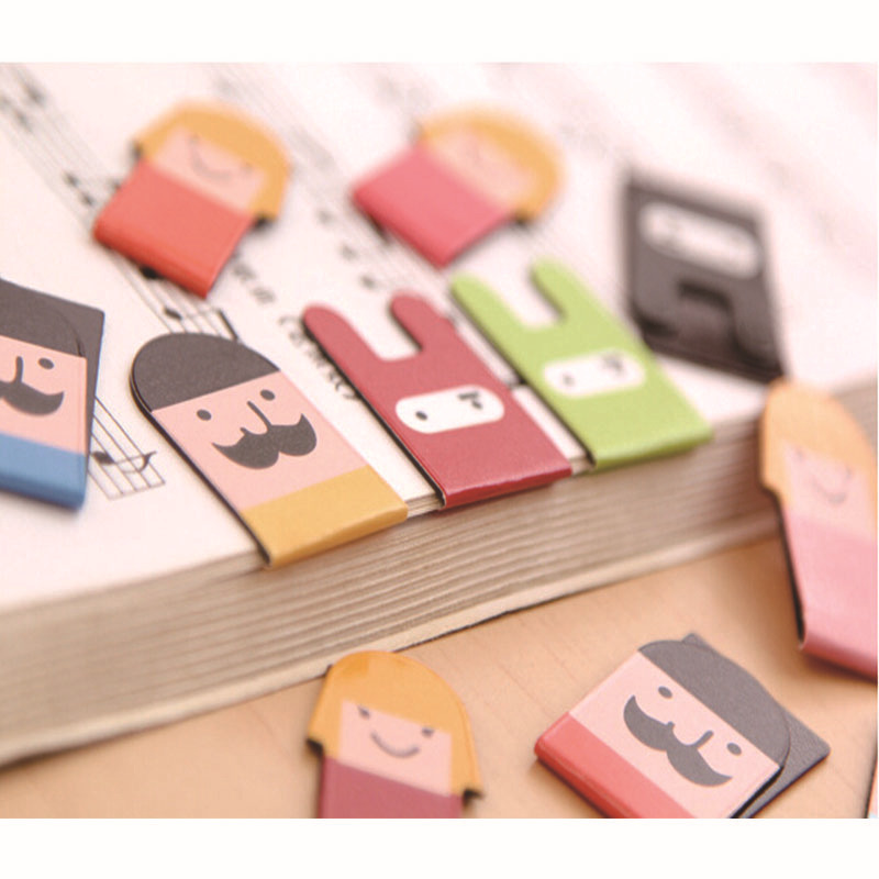 24 Pcs In 6 Set Magnet Bookmarks Make Funny Books Marker Magnetic Page Holder Marcador De Livro Materials Office School Supplies