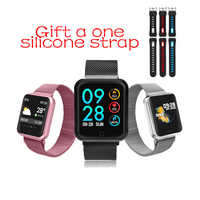 P68 חכם שעון IP67 עמיד למים גשש כושר קצב לב צג לחץ דם נשים גברים שעון Smartwatch עבור אנדרואיד IOS