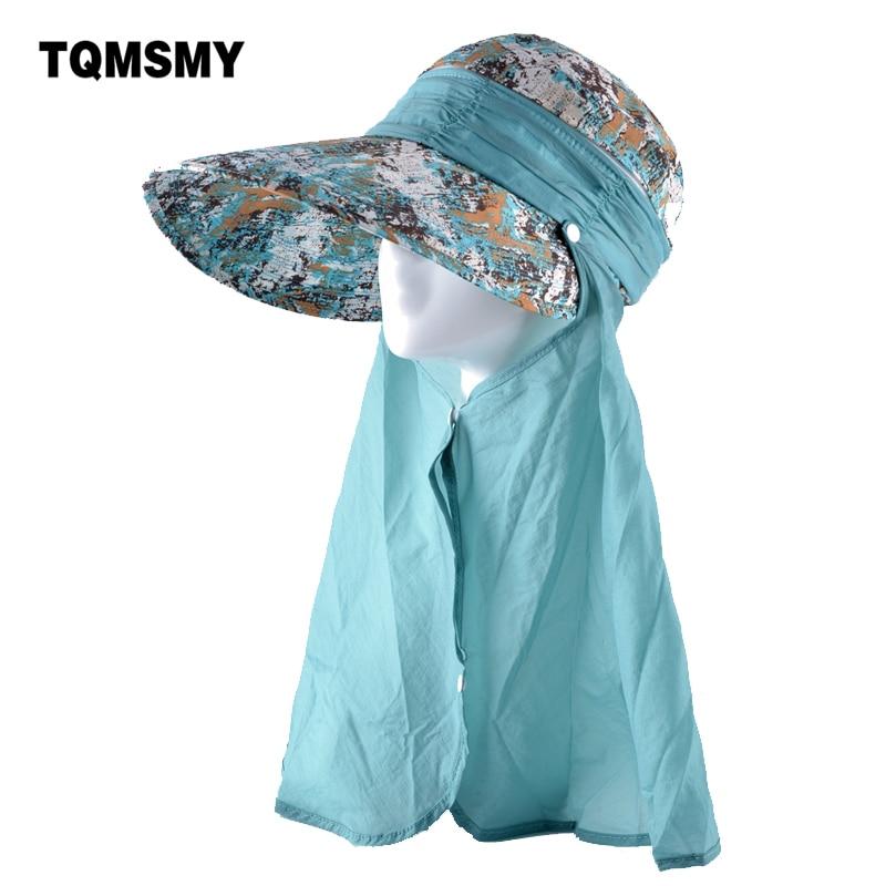 TQMSMY Multifunction Sun Hats For Girls Panama Beach Hat Anti-UV Chapeu Feminino Soft Summer Foldable Cap Women Bowknot Caps