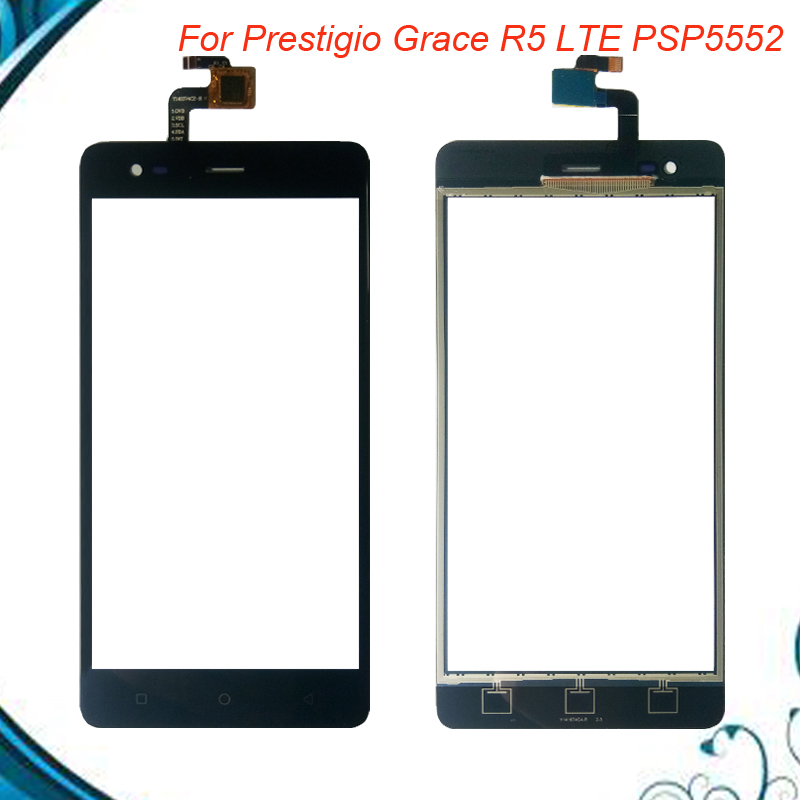 100% Tested OK For Pretigio Grace R5 LTE <font><b>PSP5552duo</b></font> PSP 5552 duo Touch Screen Digitizer front glass panel IN Stock image