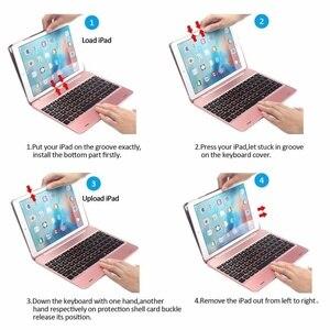 Image 5 - Тонкий Портативный беспроводной Bluetooth клавиатура с жестким чехол для Apple iPad Air / Air 2 / Pro 9,7  / 2017 / 2018 новый iPad 9,7