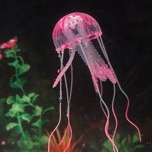 Новинка, светящийся эффект, искусственный силикон, яркие медузы, аквариумные украшения, мини подводная лодка, Подводные украшения