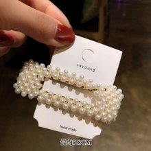Fashion Pearl Hair Clip for Women Elegant Korean Design Snap Barrette Stick Hairpin Hair Styling Accessories цена