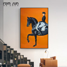 HD Nordic Style My Black Horse Canvas Painting Wall Art Pictures For Living Room Modern Home Decoration Posters And Prints LS016(China)