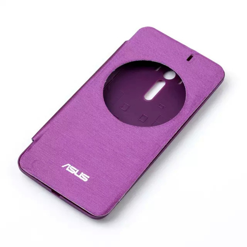zd551kl New Quick Circle View Window Flip Phone Leather Cover Case For ASUS ZenFone 2 Selfie ZD551KL 5.5″ Battery Housing Back