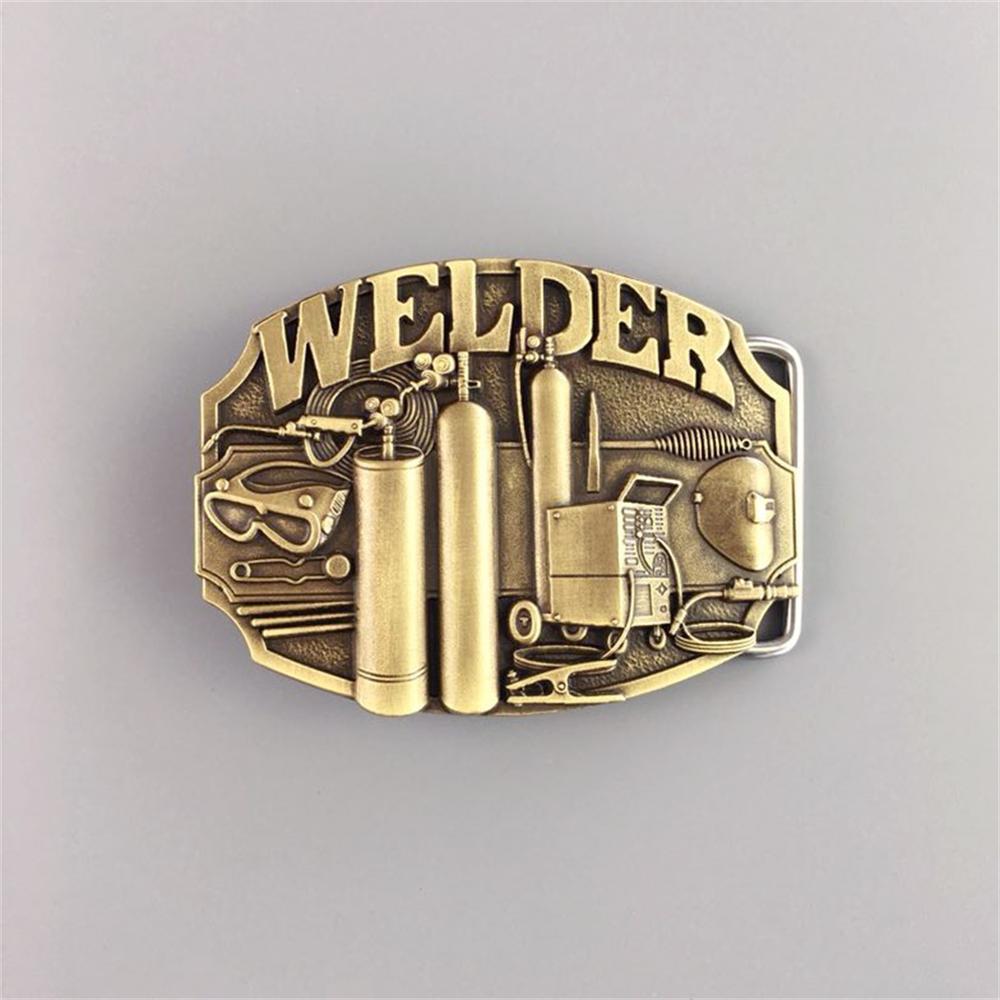 Welder Trade Tradesman Metal Belt Buckle