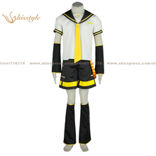Kisstyle Fashion VOCALOID Kagamine LEN Uniform COS Clothing Cosplay Costume,Customized Accepted
