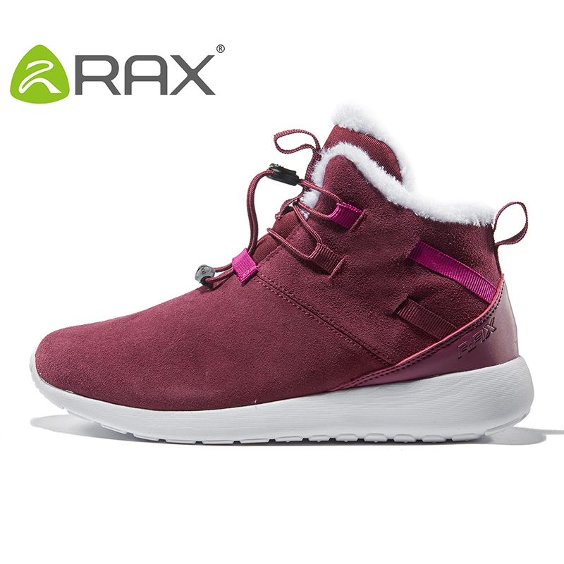 2018 RAX Fleece Winter Outdoor Snow Boots Women Warm Cold Boots Wear Rubber Hiking Shoes Snow Shoes For Women