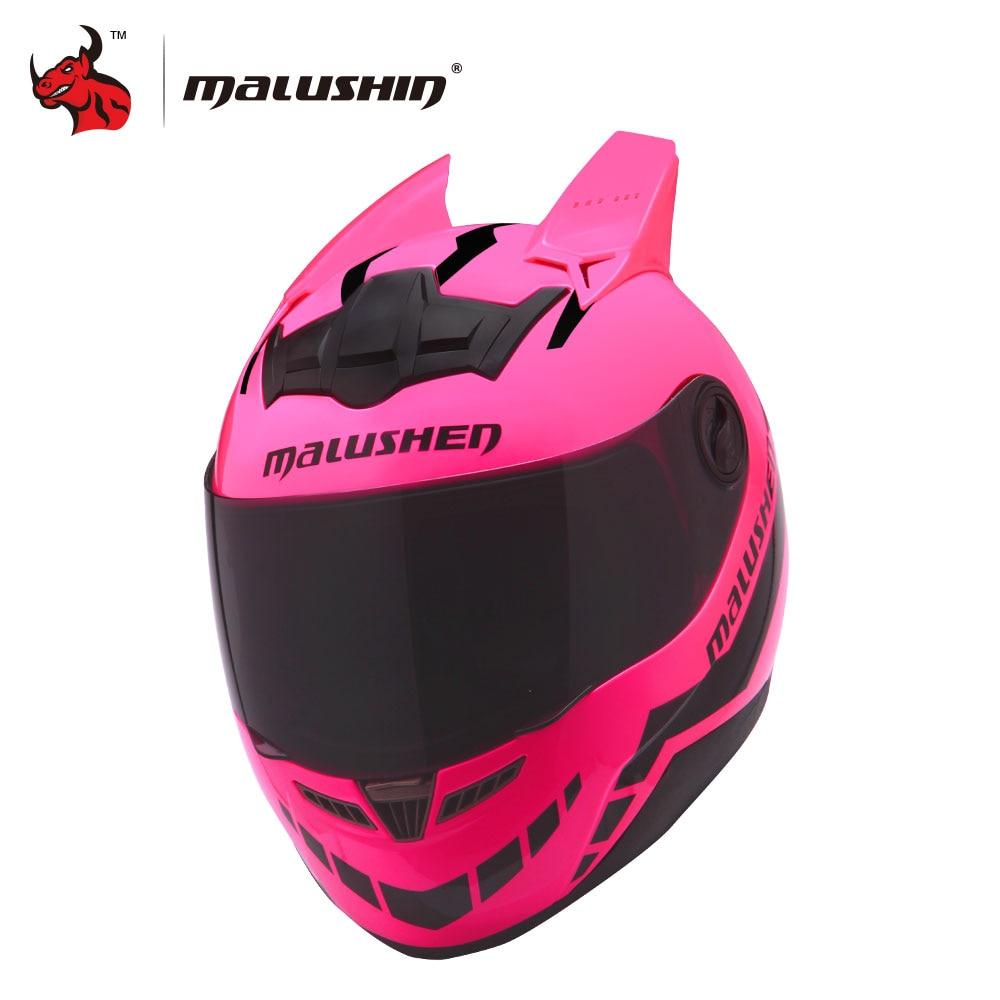 Malushun Motorcycle Helmet Women Flip Up Motocross Helmet -3963