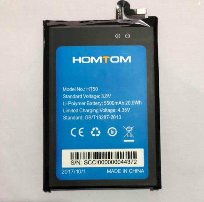 100% Original HT50 Batterie 5500 mAh Ersatz HOMTOM HT50 Handy-akku