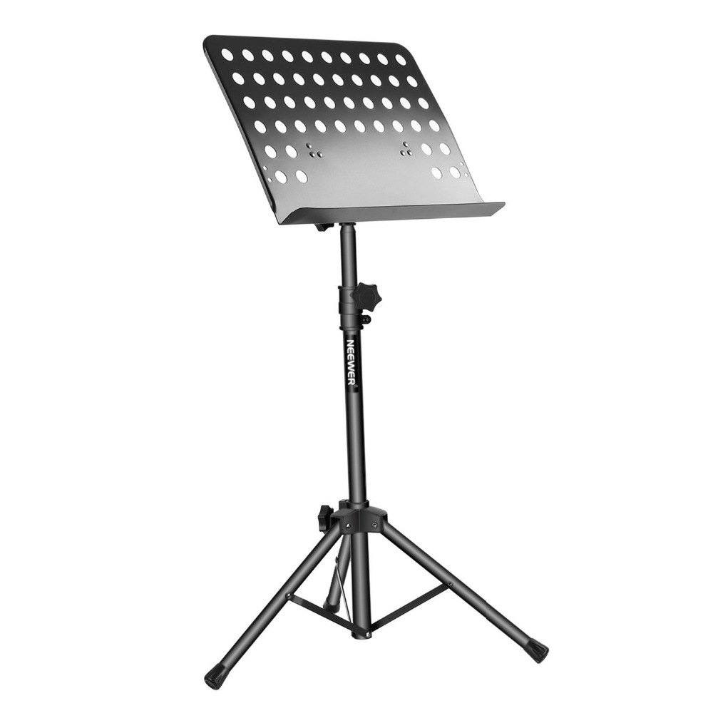 Neewer Collapsible Sheet font b Music b font Stand with Adjustable Height and 180 Degree Tray