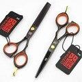 Kasho ножницы профессиональные парикмахерские ножницы 5.5 дюймов волос ножницы , установленные bberber makas филировочные tesoura 4 цветов