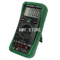 Black Green Electrical Meter DY2101 Digital Multimeter w 2 Test Leads
