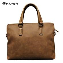 купить Famous Brand Business Men Briefcase Vintage Leather Laptop Bag Men Shoulder Bag Messenger Bags Causal Handbag Male по цене 1820.83 рублей