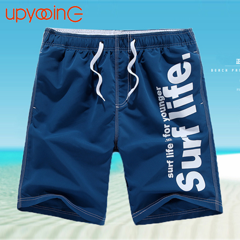 2017 Casual Men Shorts Beach Board Shorts Men Quick Drying Summer Style Solid Polyester New Brand Clothing Boardshorts M-4XL