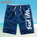 2017 Hombres Casuales Pantalones Cortos Playa Pantalones Cortos de los Hombres de Secado rápido Summer Style Solid Poliéster Nueva Marca Boardshorts Ropa M-4XL