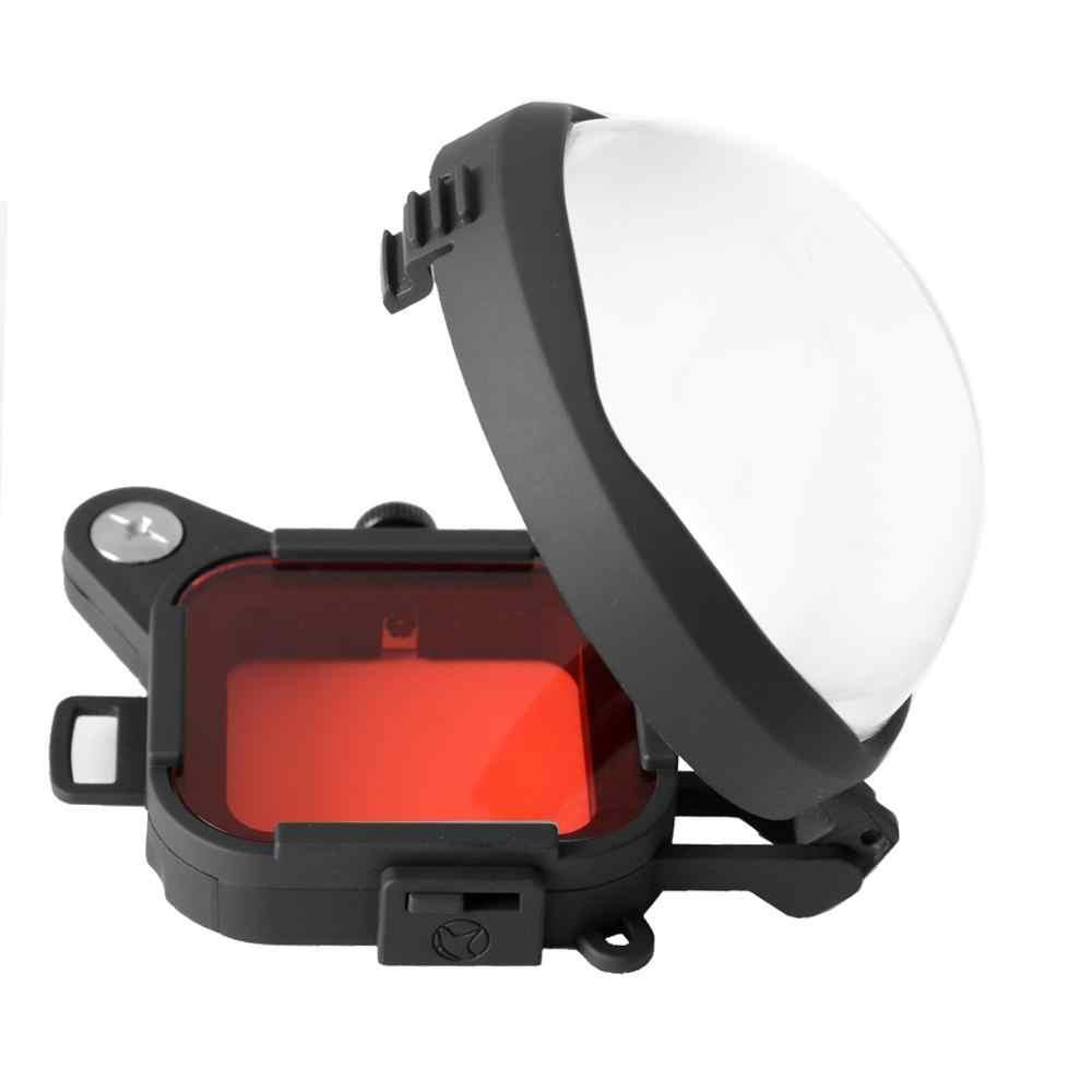 Красный коррекционный фильтр цвета + 16X крупным планом макро-объектив для Gopro Go Pro Hero 4 3 3 + корпус подводный объектив фильтр комплект