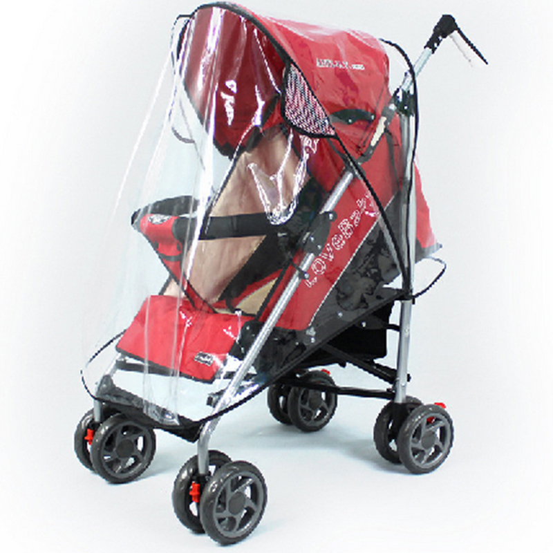Free Shipping Universal Strollers Pushchairs Baby Carriage Waterproof Dust Rain Cover Windshield ATRQ0144