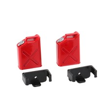 Durable 2PCS 1/10 Scale RC Rock Crawler Truck Accessories RC Car Tank + Mount MINI FUEL TANK OIL CANS Remote Control Parts(China)