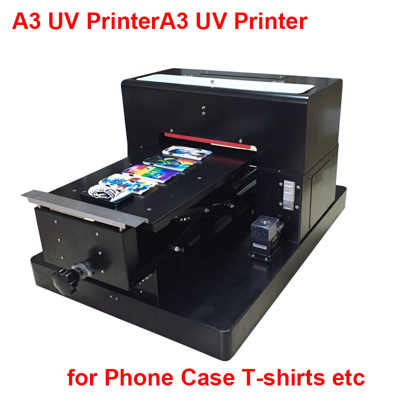 2017 New Arrival <font><b>A3</b></font> UV Printer for Epson R2000 Flatbed UV Machine for Printing Phone Case T-shirts Wood Glass and Acrylic