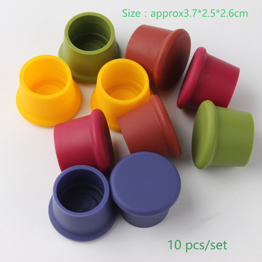 US $3 93 20% OFF|New Colorful Silicone Beer Bottle Cap 10pcs/lot Cover lid  Wine Stoppers Leak Free Sealers Red Wine Cap Kitchen Useful Tools-in Wine