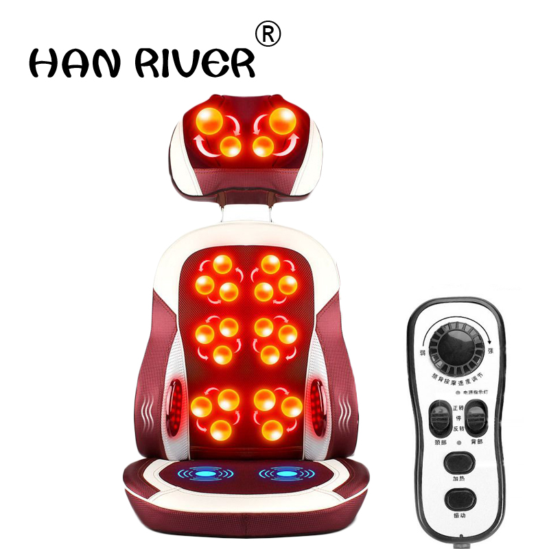 Health Care Beauty & Health Electric Heating Kneading Massage Chair Infrared Physical Therapy Neck Pillow Back Massage Relax Seat Cushion Vibrator J2195 Lustrous