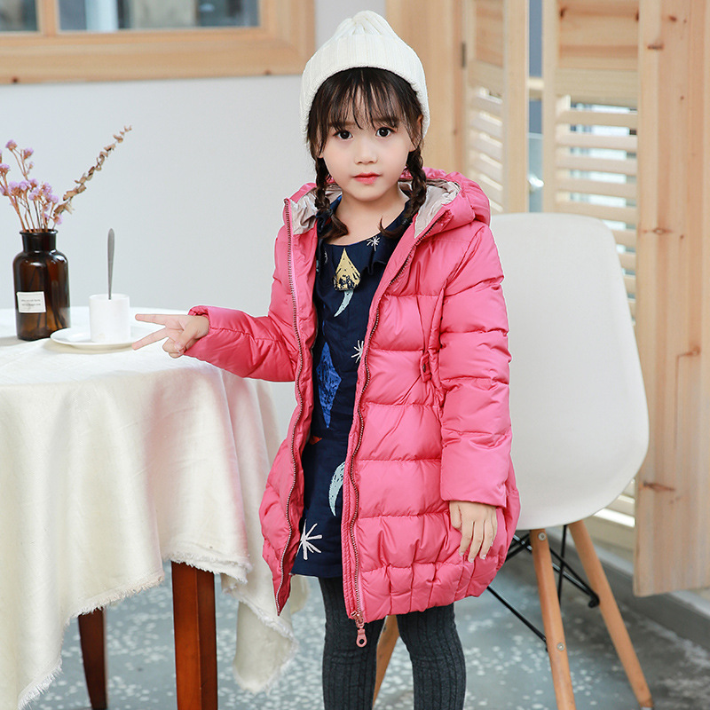 Children's clothing Girls down coat parka new winter warm cotton outwear long padded jackets fashion park for girls