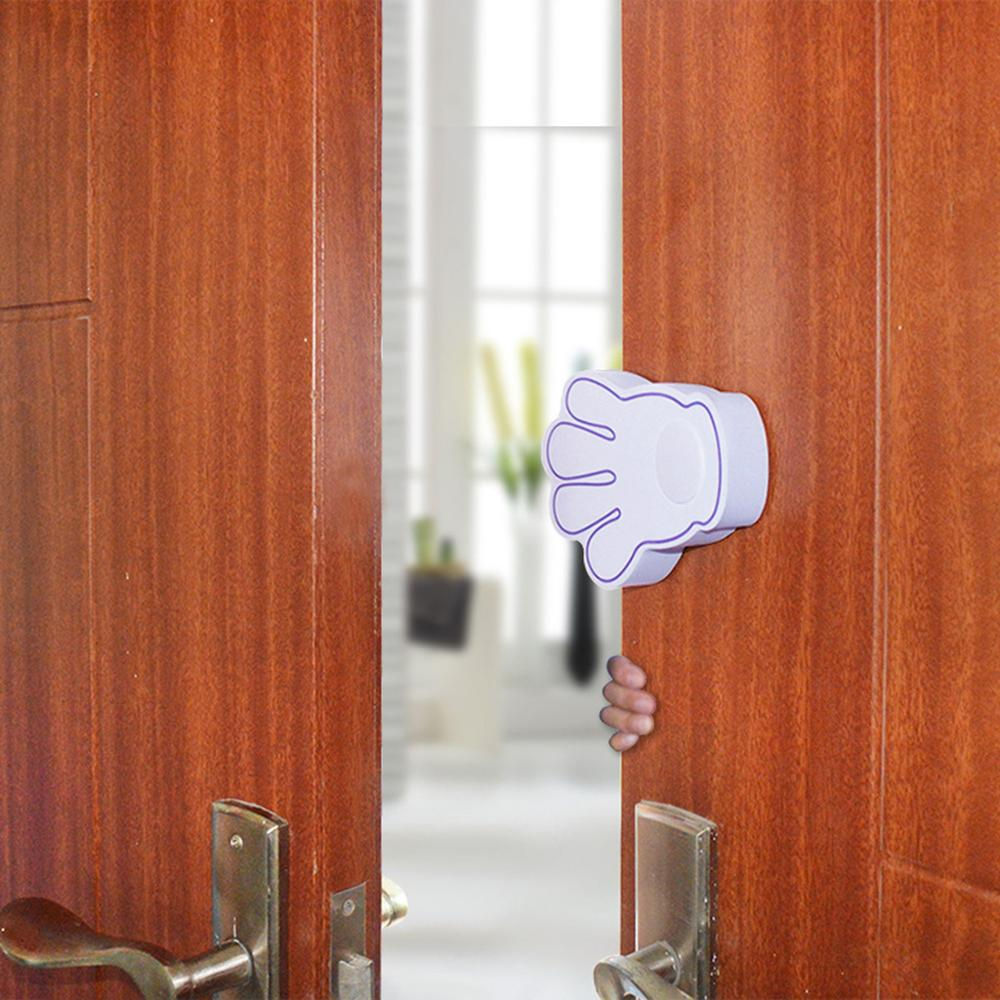 Child Safety Door Card Baby Anti-pinch Block Small Hand Shape Creative Rotary Clamp Doors Stopper