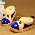 2015 Зима новый мультфильм дети бытовые обувь хлопок согреться детские мальчики тапочки детские ботинки хлопка 1-5 лет